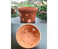 Вазон для орхидей керамический, D 20 см, H 14 см