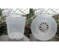 Вазон для орхидей пластиковый прозрачный, D 15 см, H 13 см