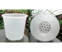 Вазон для орхидей пластиковый полупрозрачный, D 17 см, H 15 см