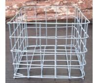 Корзина металлическая квадратная (20 см х 20 см)
