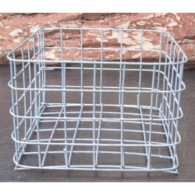 Корзина металлическая квадратная (17 см х 17 см)