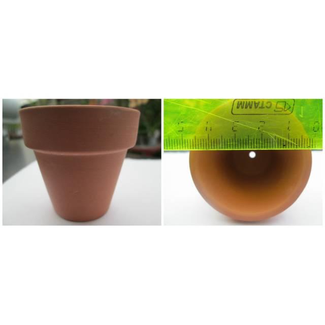 Терракотовый горшок d 5 см, h 4,5 см