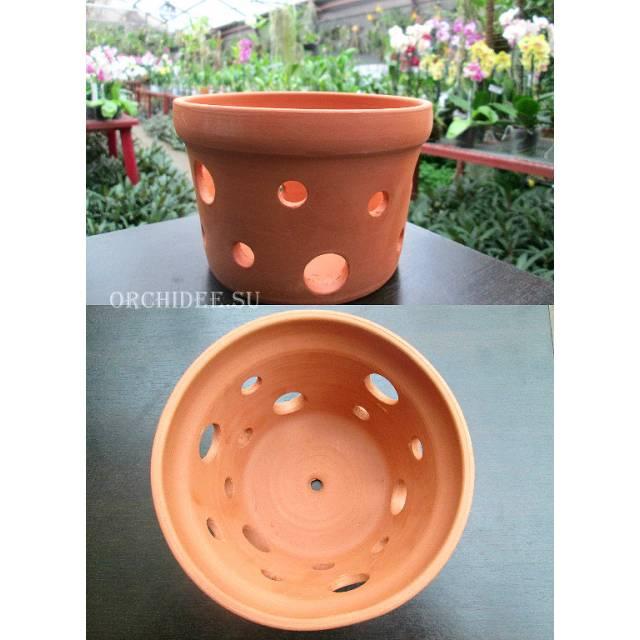Вазон для орхидей керамический, D 15 см, H 10 см
